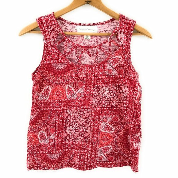 French Laundry Womens Paisley Sleeveless Tank, M